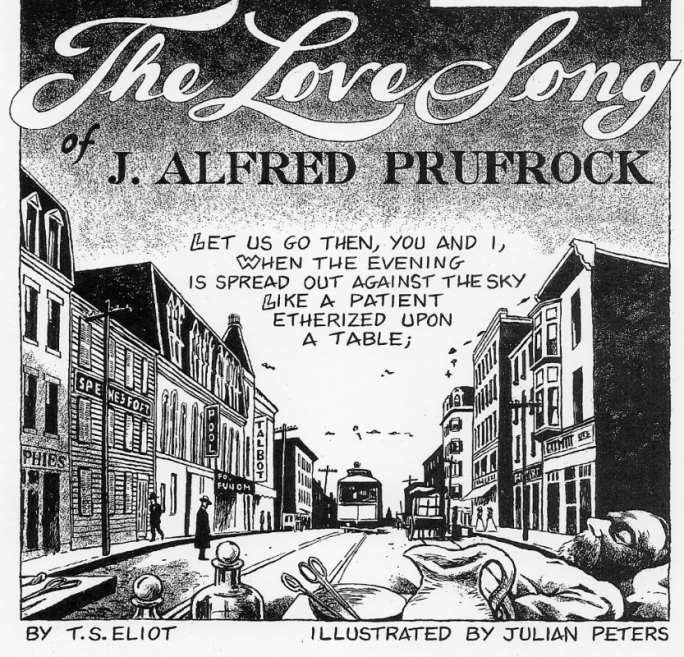 The Love Song of J. Alfred Prufrock, Illustrated by Julian Peters